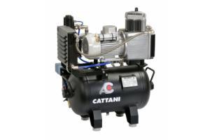 Cattani 30-67 - безмасляный компрессор для одной стоматологической установки, c осушителем, без кожуха, с ресивером 30 л, 67,5 л/мин