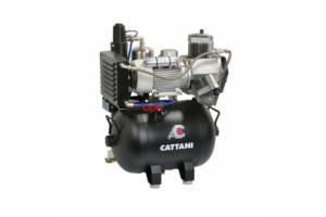 Cattani 45-238 - безмасляный компрессор для 3-х стоматологических установок, c осушителем, без кожуха, с ресивером 45 л, 238 л/мин